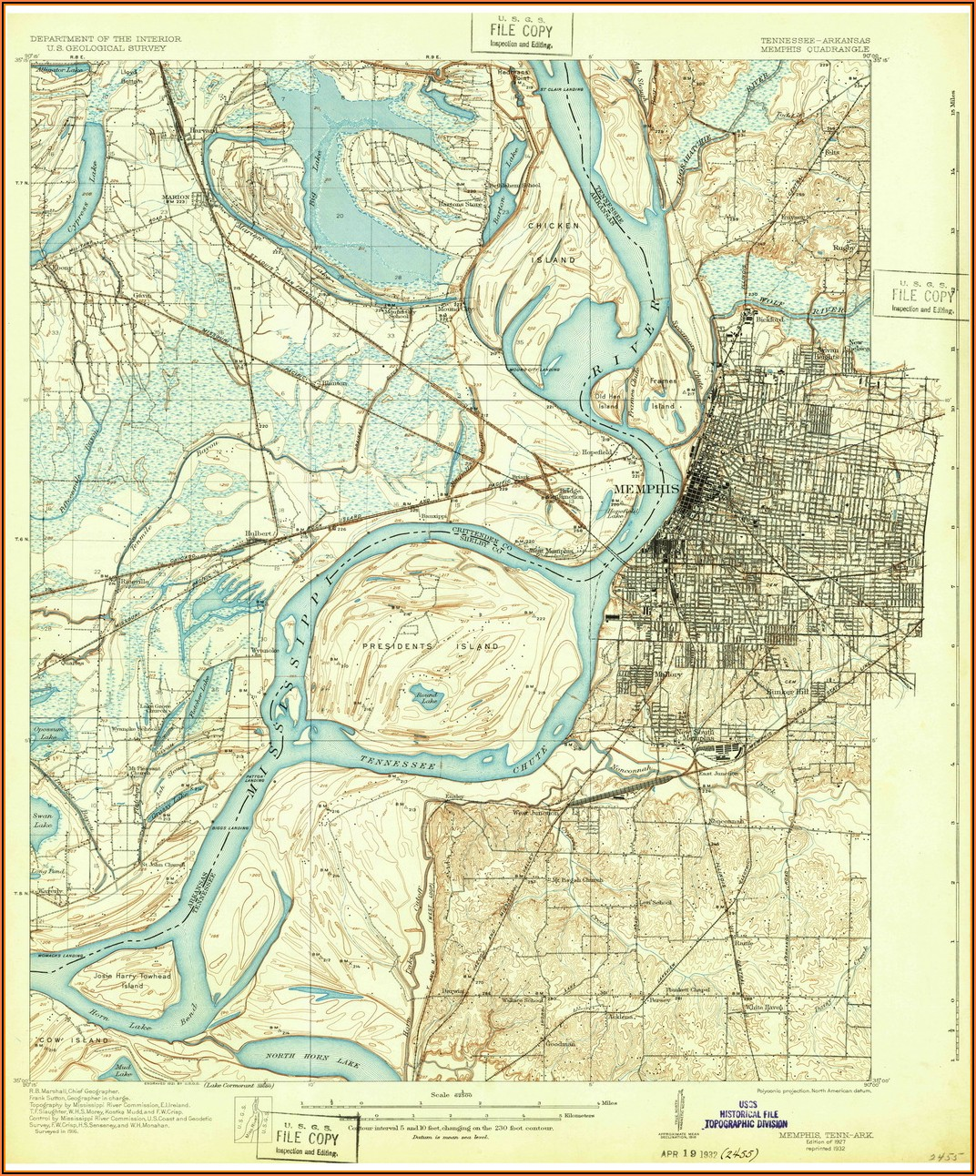 Historic Maps Of Memphis Tn