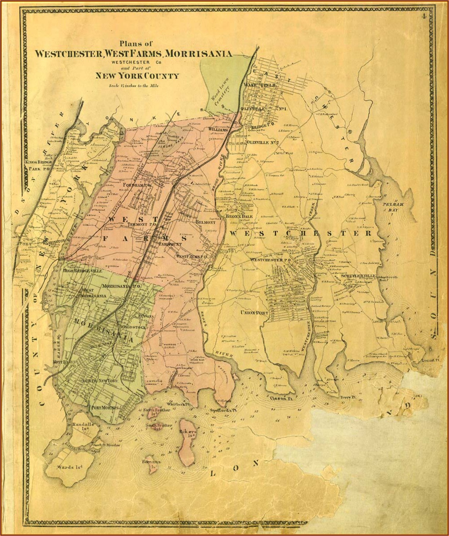 Historic Maps Of The Bronx