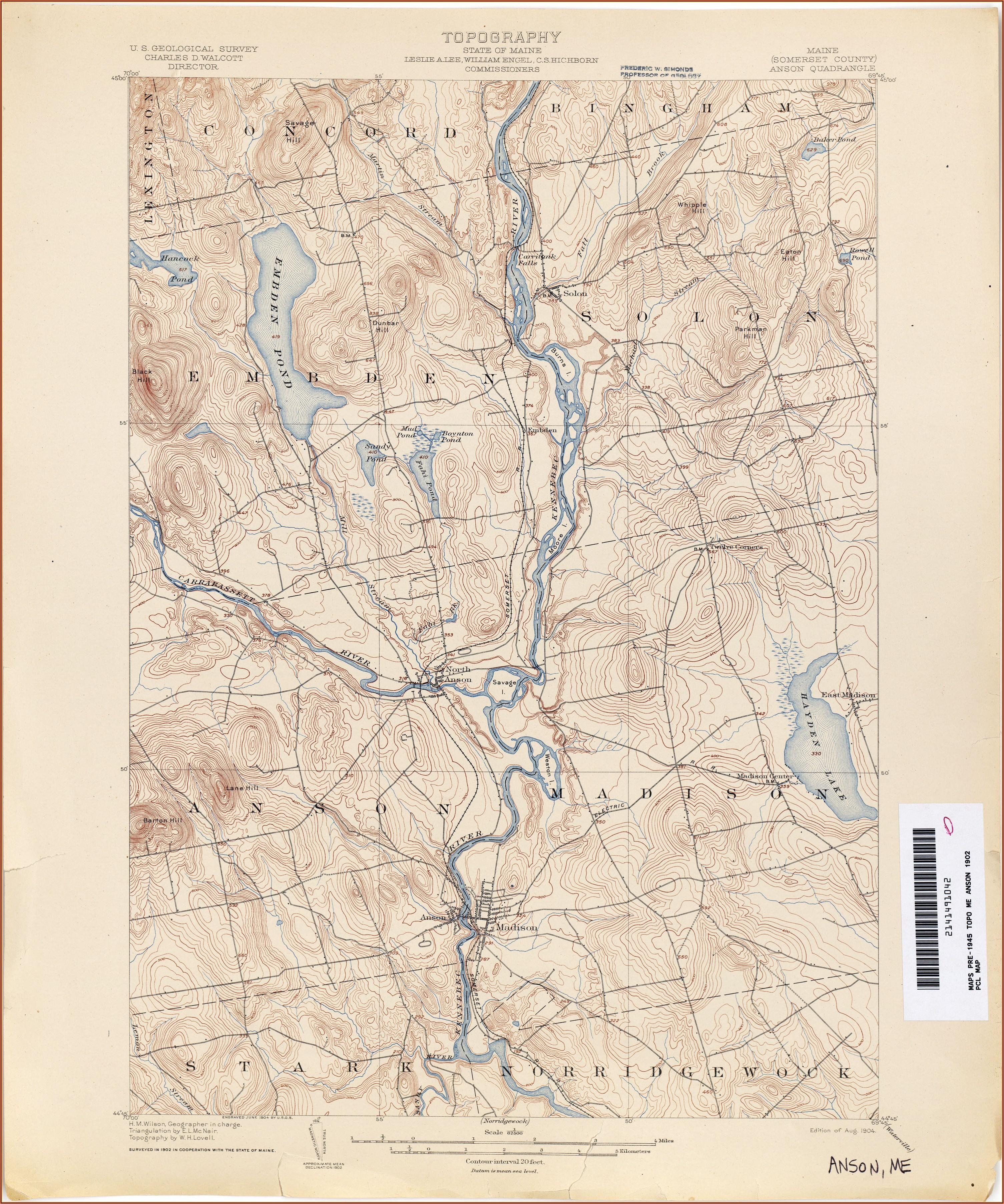 Historical Topo Maps Maine