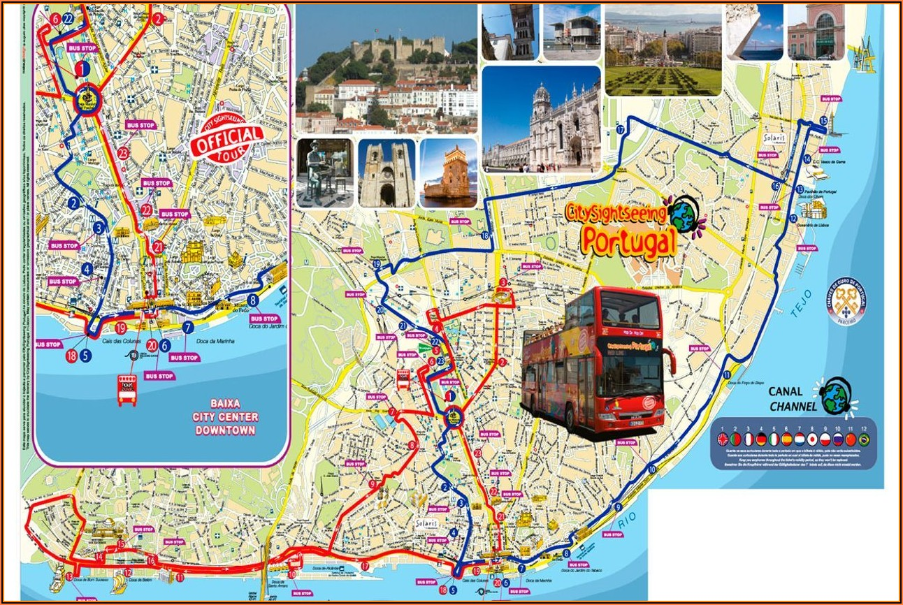 Hop On Hop Off Porto Red Bus Map