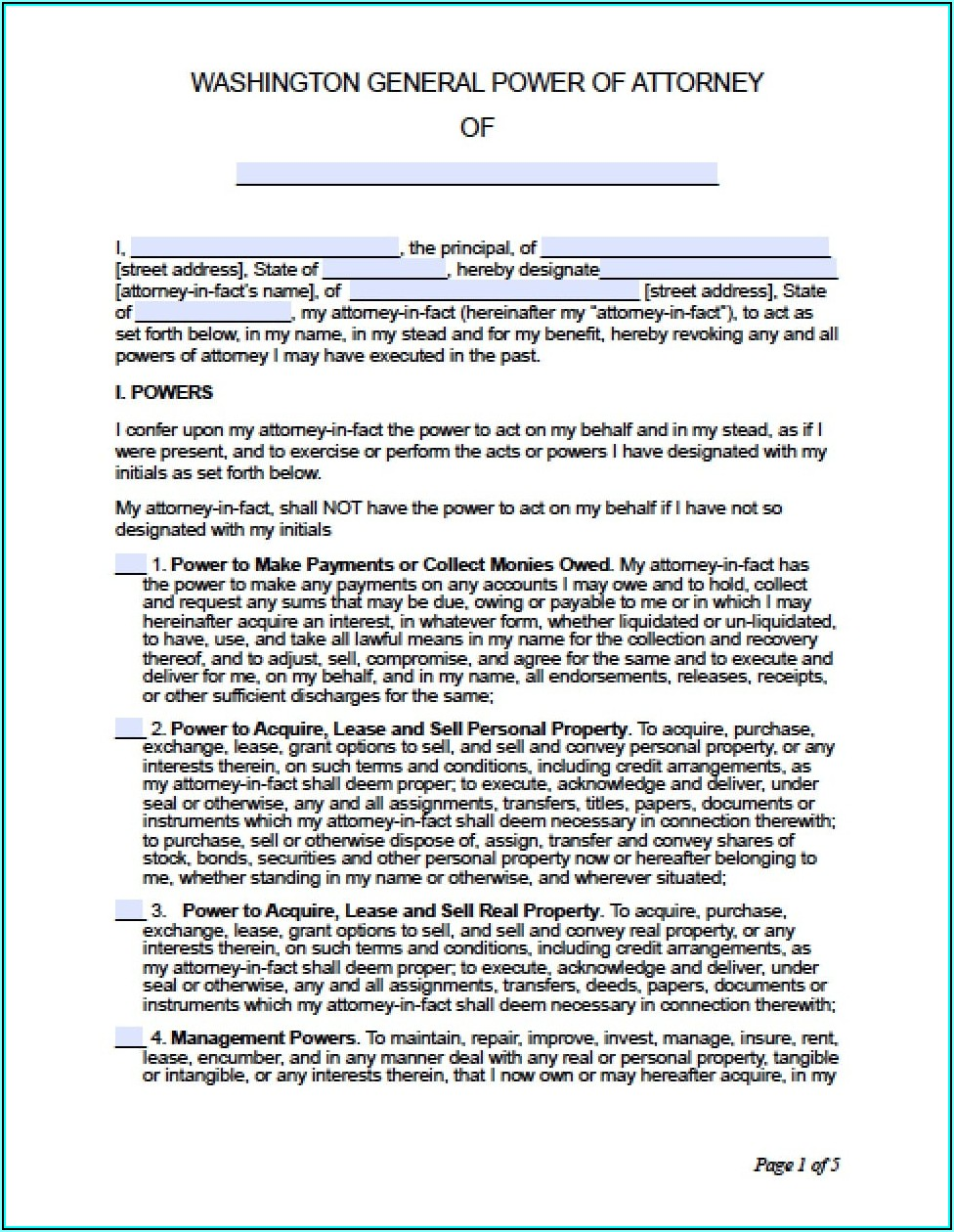 How Can I Get A Power Of Attorney Form