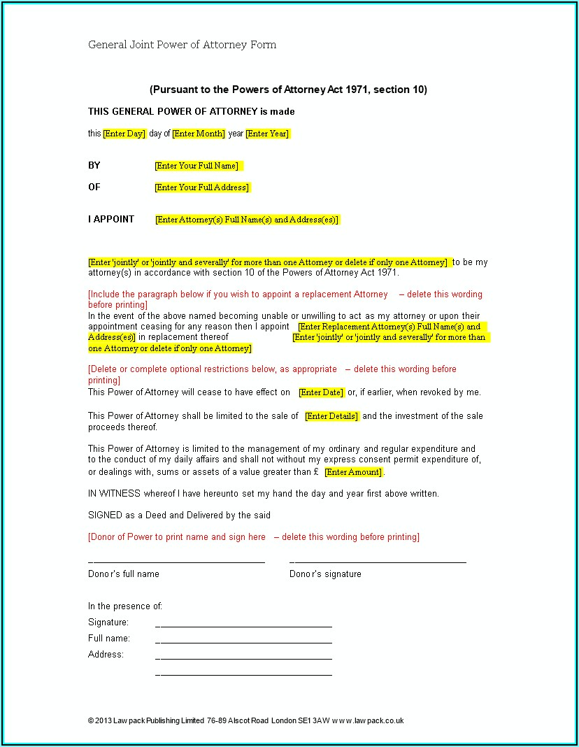 How Can You Get A Power Of Attorney Form