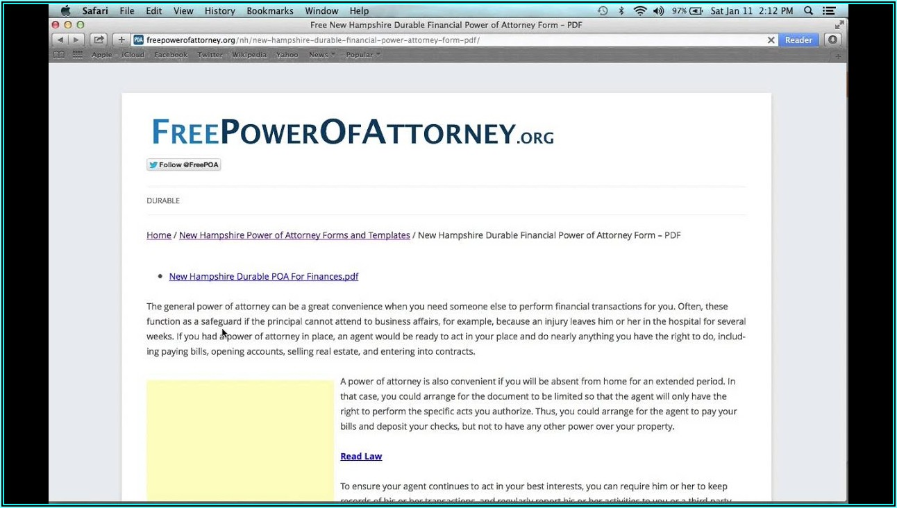 How Do I Get A Power Of Attorney Form