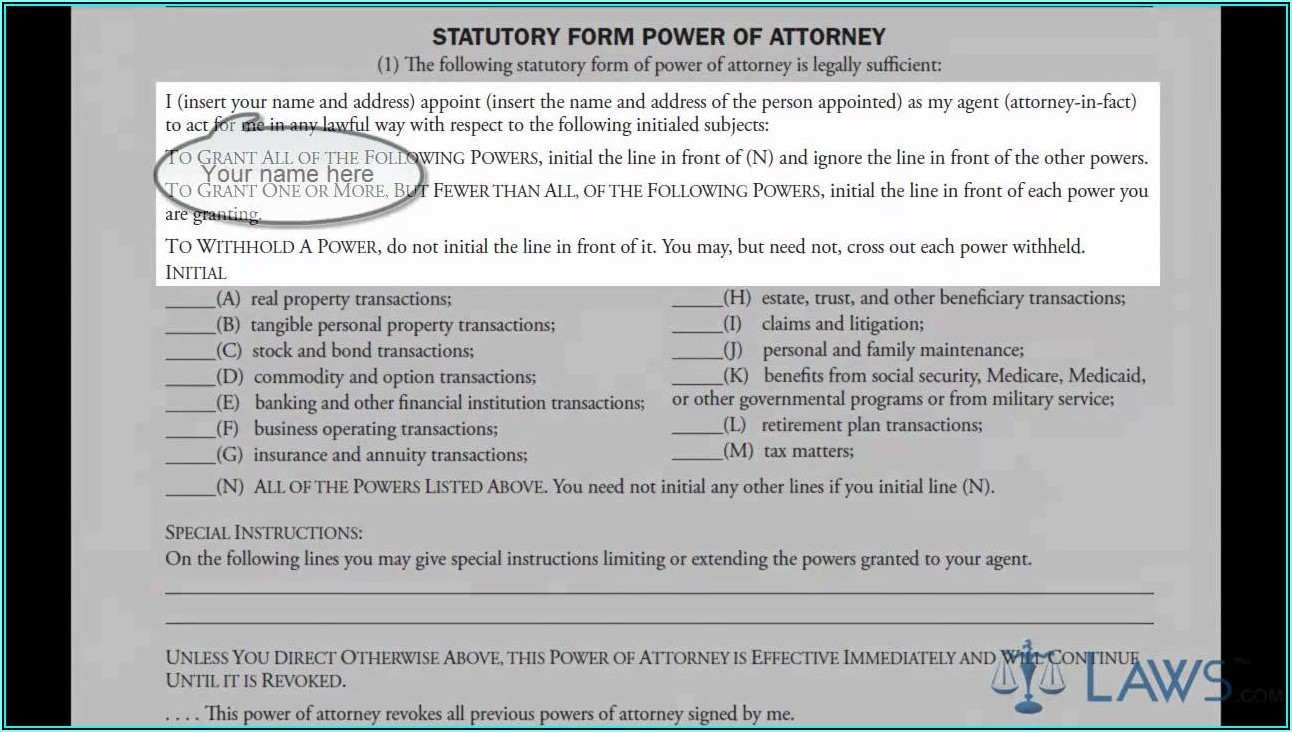 How To Complete A Power Of Attorney Form