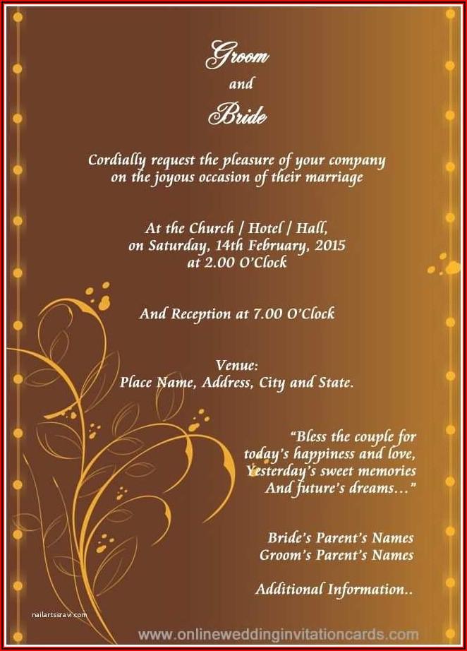 Indian Wedding Card Design Psd Files Free Download