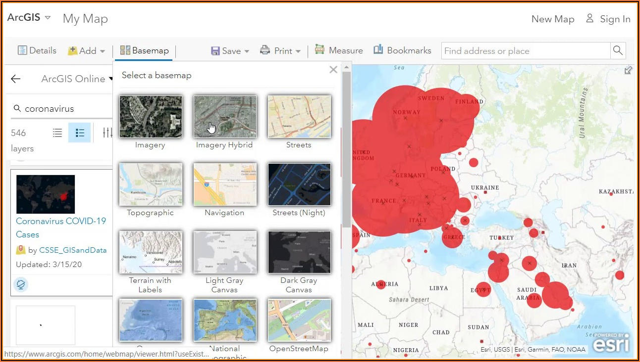 Interactive Mapping Tools