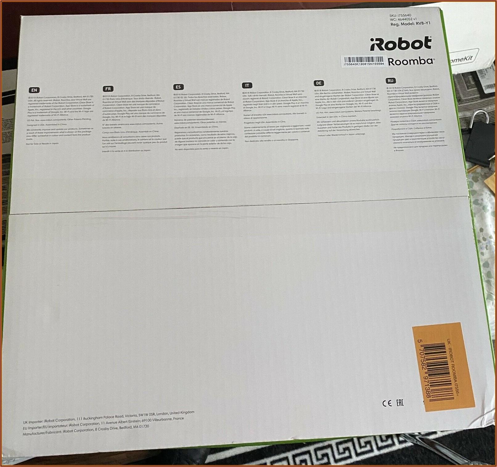 Irobot Roomba Room Mapping