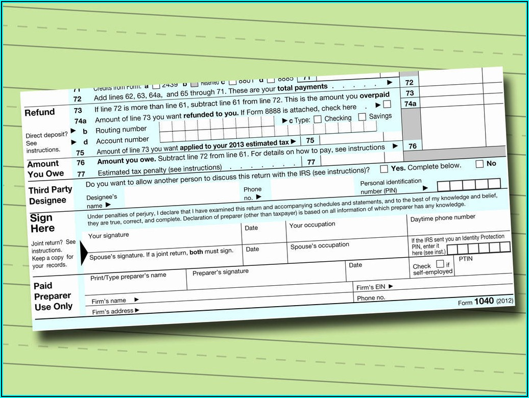 Irs Fillable Form 1040
