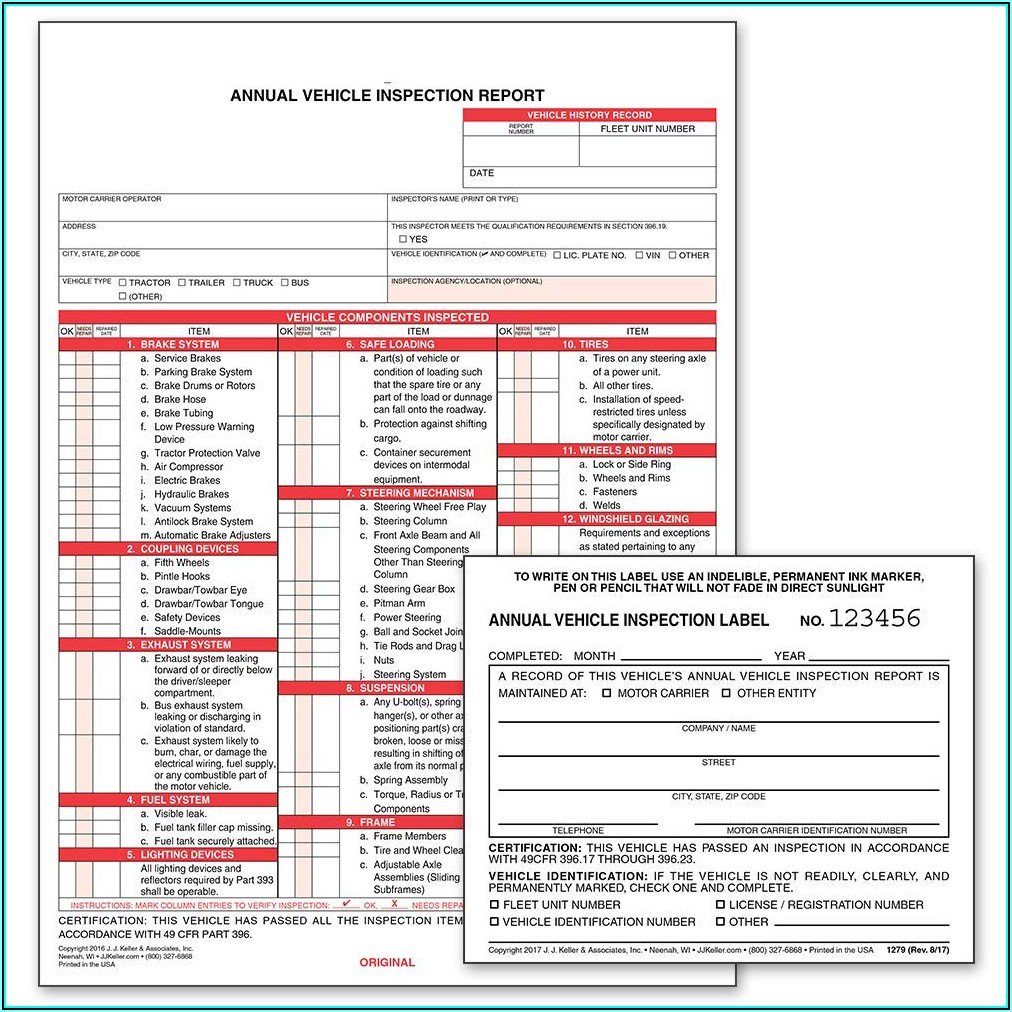 Jj Keller Bit Inspection Forms