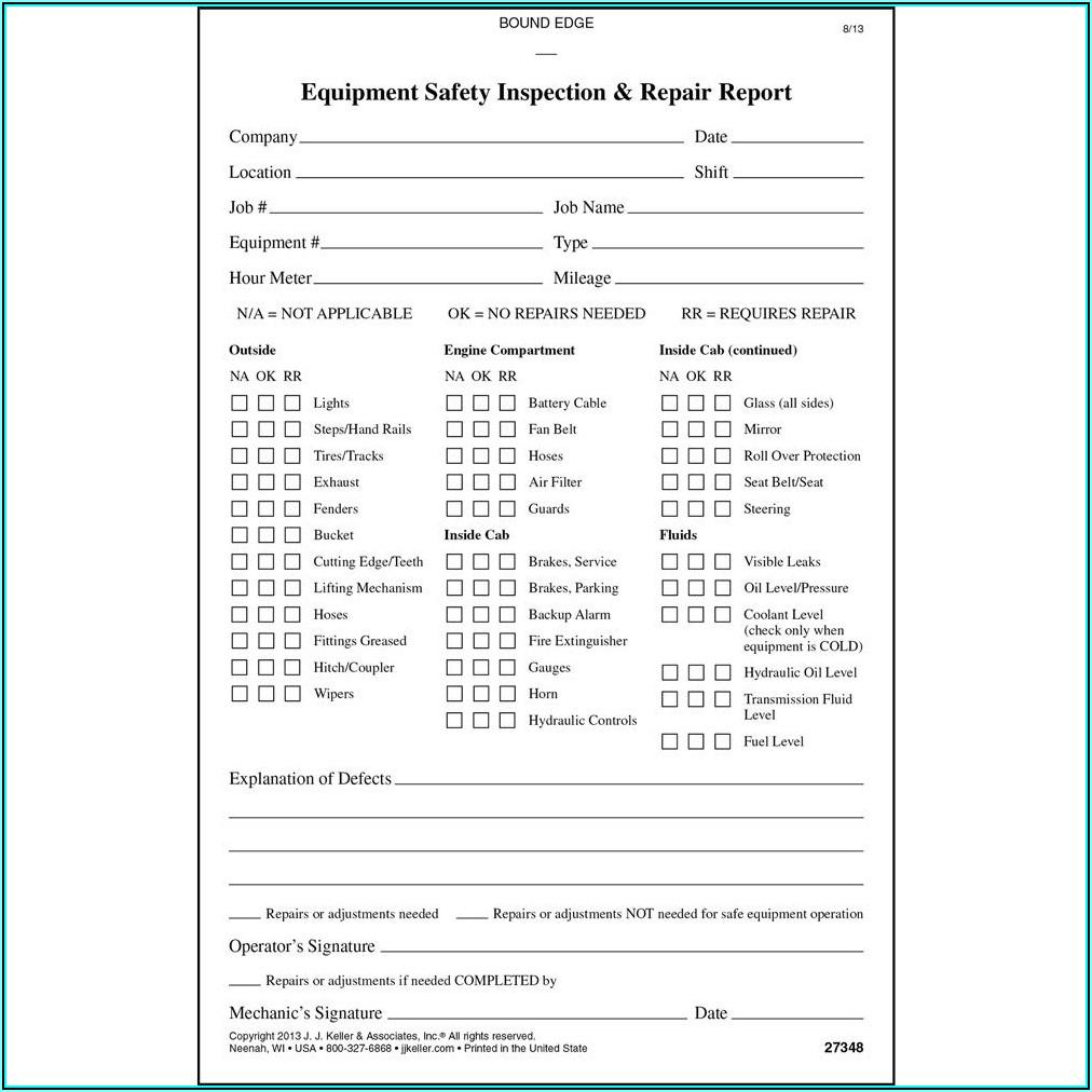 Jj Keller Crane Inspection Form