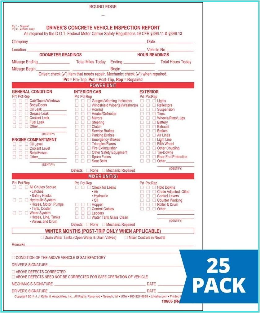 Jj Keller Federal Inspection Forms