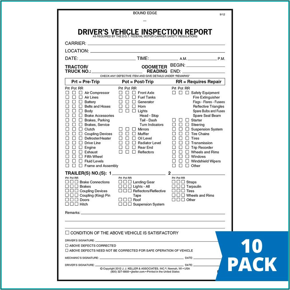 Jj Keller Inspection Forms