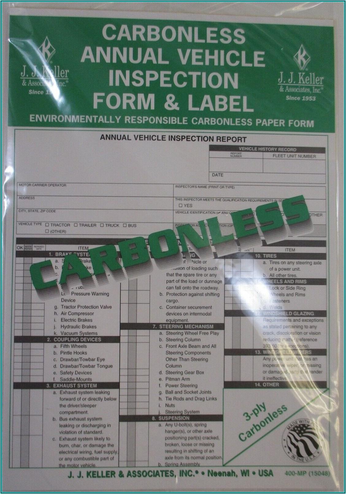 Jj Keller Vehicle Inspection Form