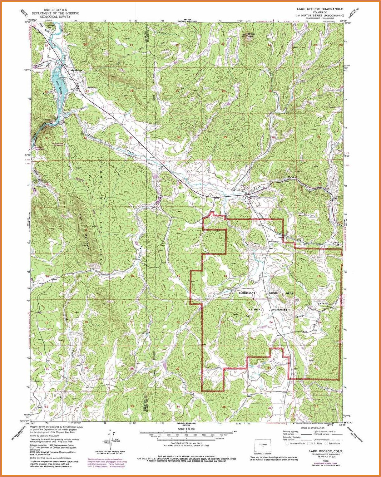 Lake George Topographic Map