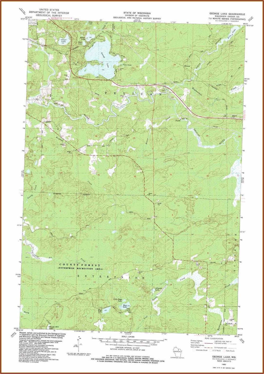 Lake George Wi Topographic Map