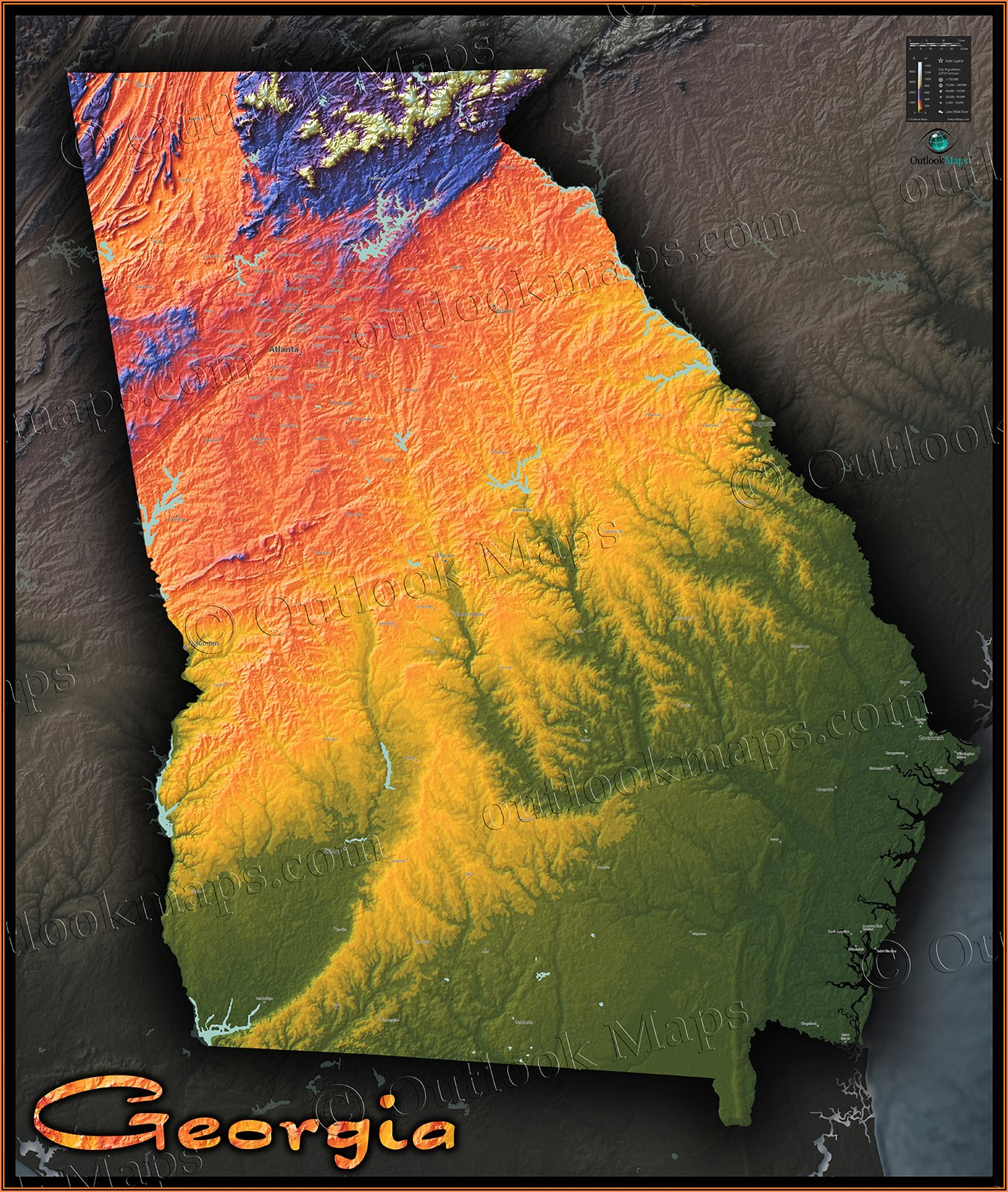Lake Walter F George Topo Map