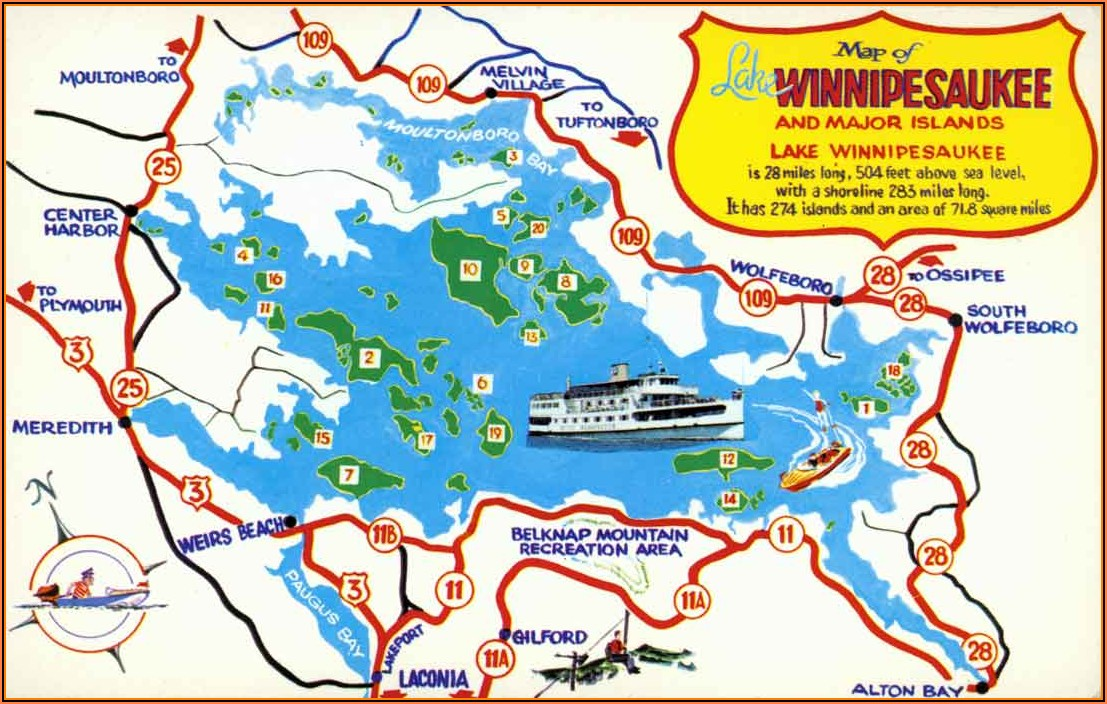 Lake Winnipesaukee Map Of Islands