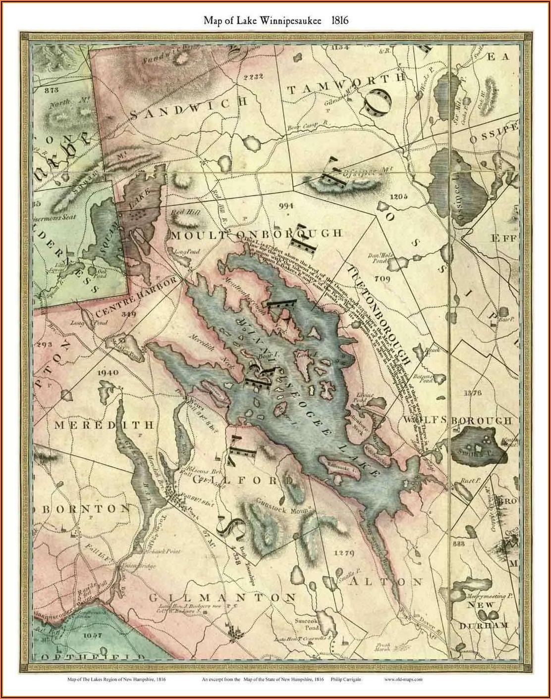 Lake Winnipesaukee Maps