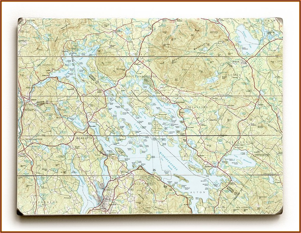 Lake Winnipesaukee Topographic Maps