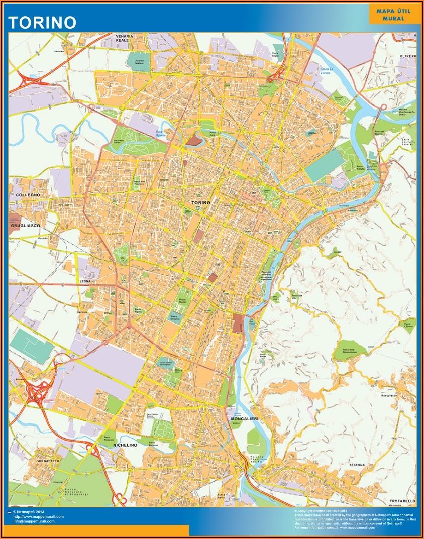 Laminated City Wall Maps