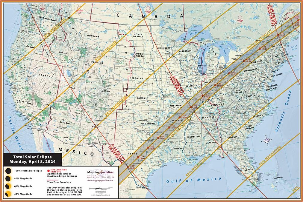 Laminated United States Road Map