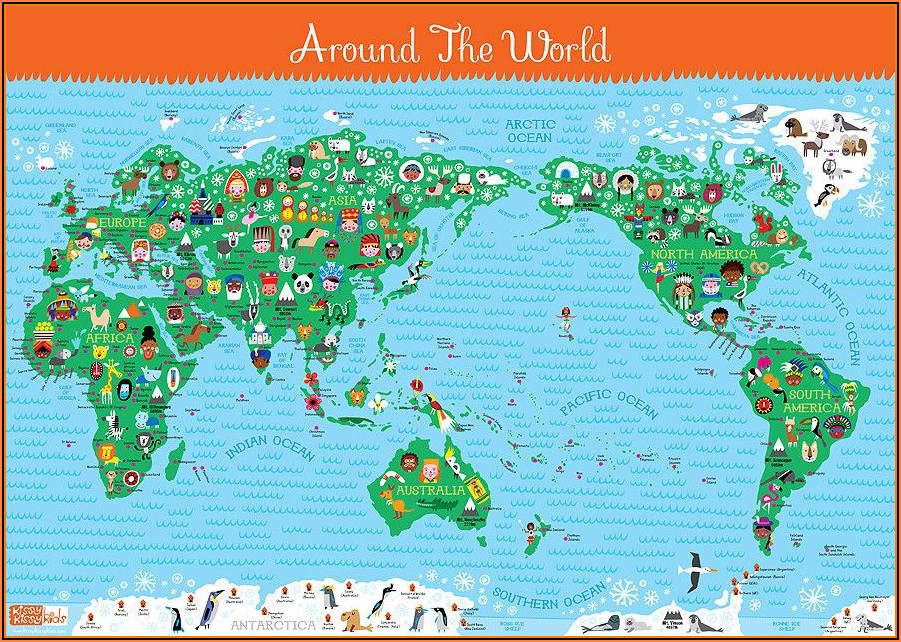 Laminated World Map Poster Nz