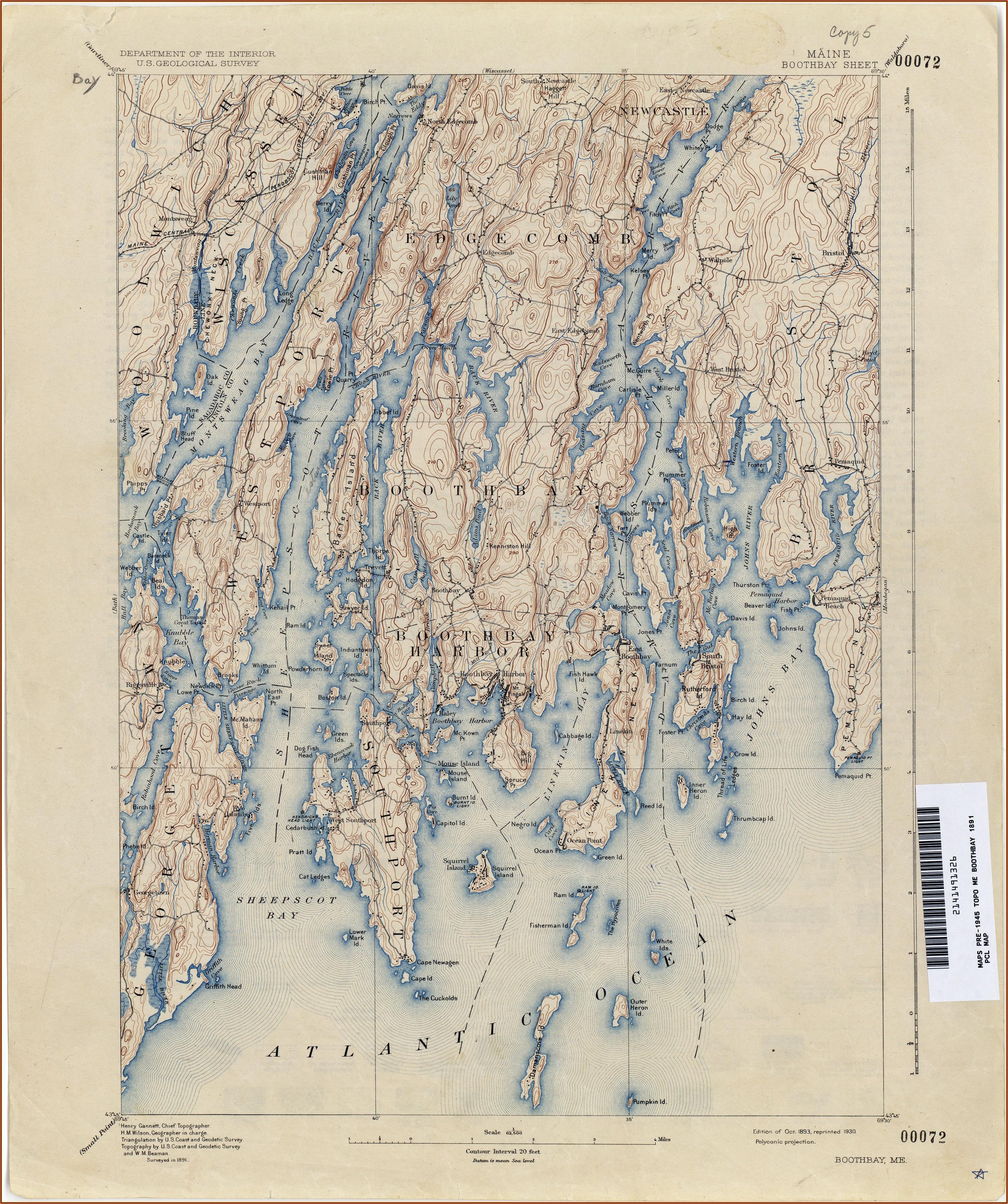 Maine Topographic Maps