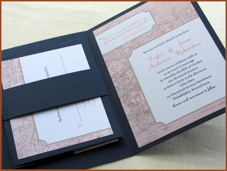 Map Design Wedding Invitation
