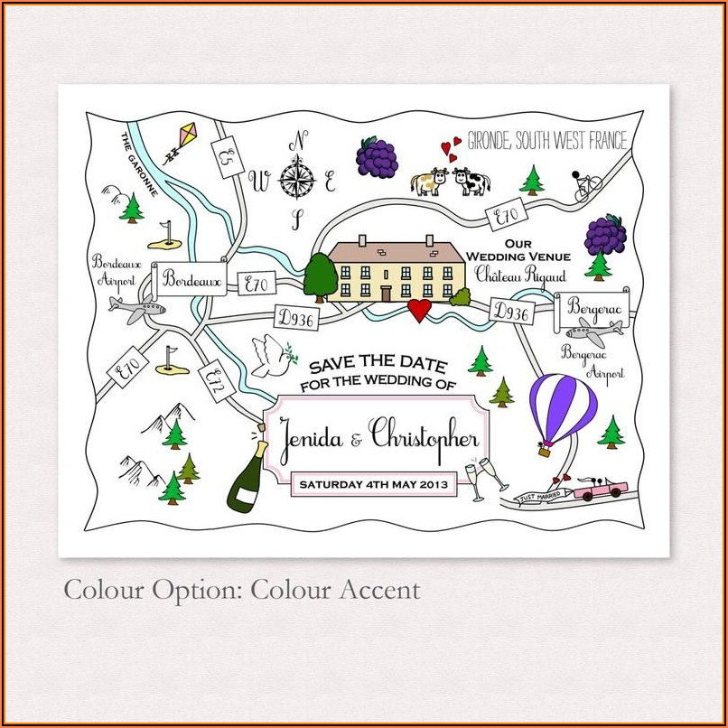 Map For Wedding Invitations Free