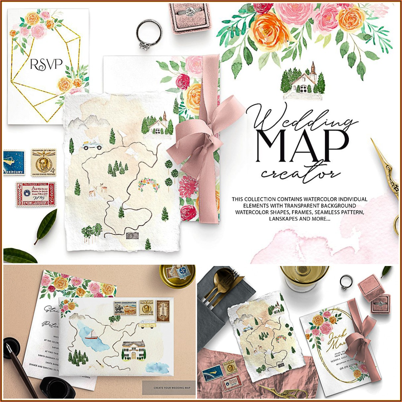 Map Maker Wedding Invitation