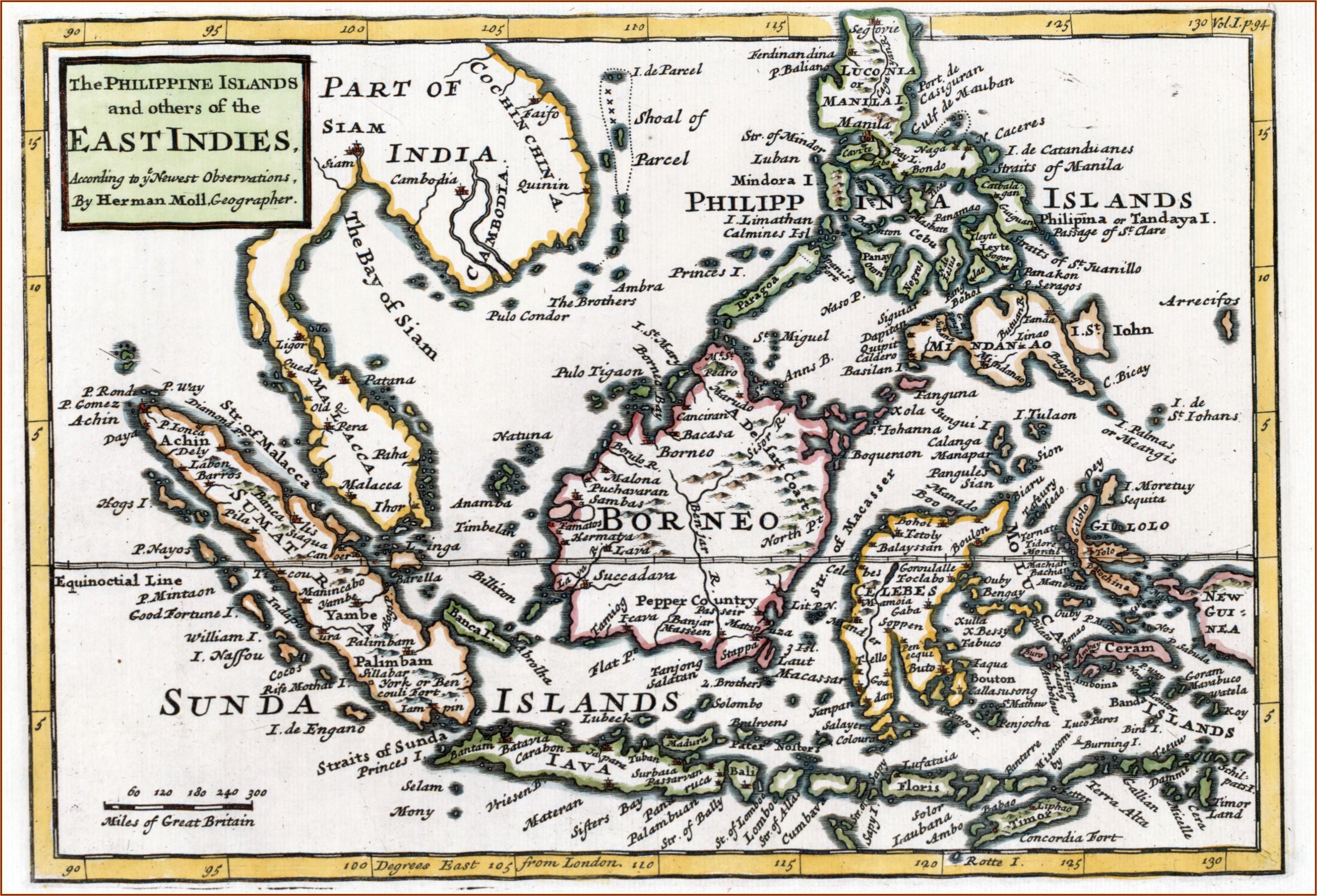 Map Of East Indies Islands