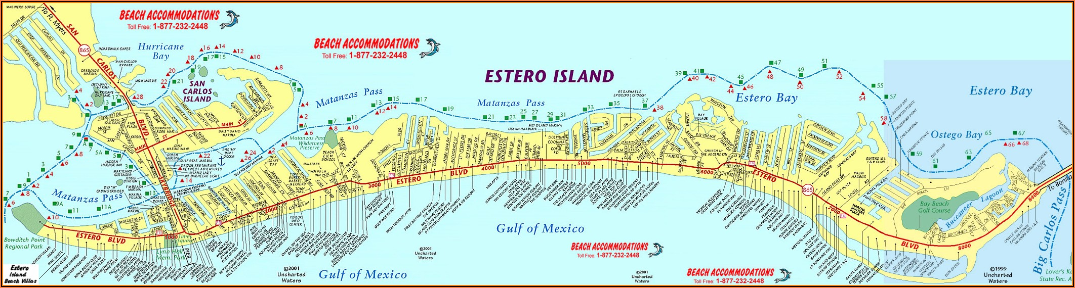 Map Of Fort Myers Beach Florida Hotels