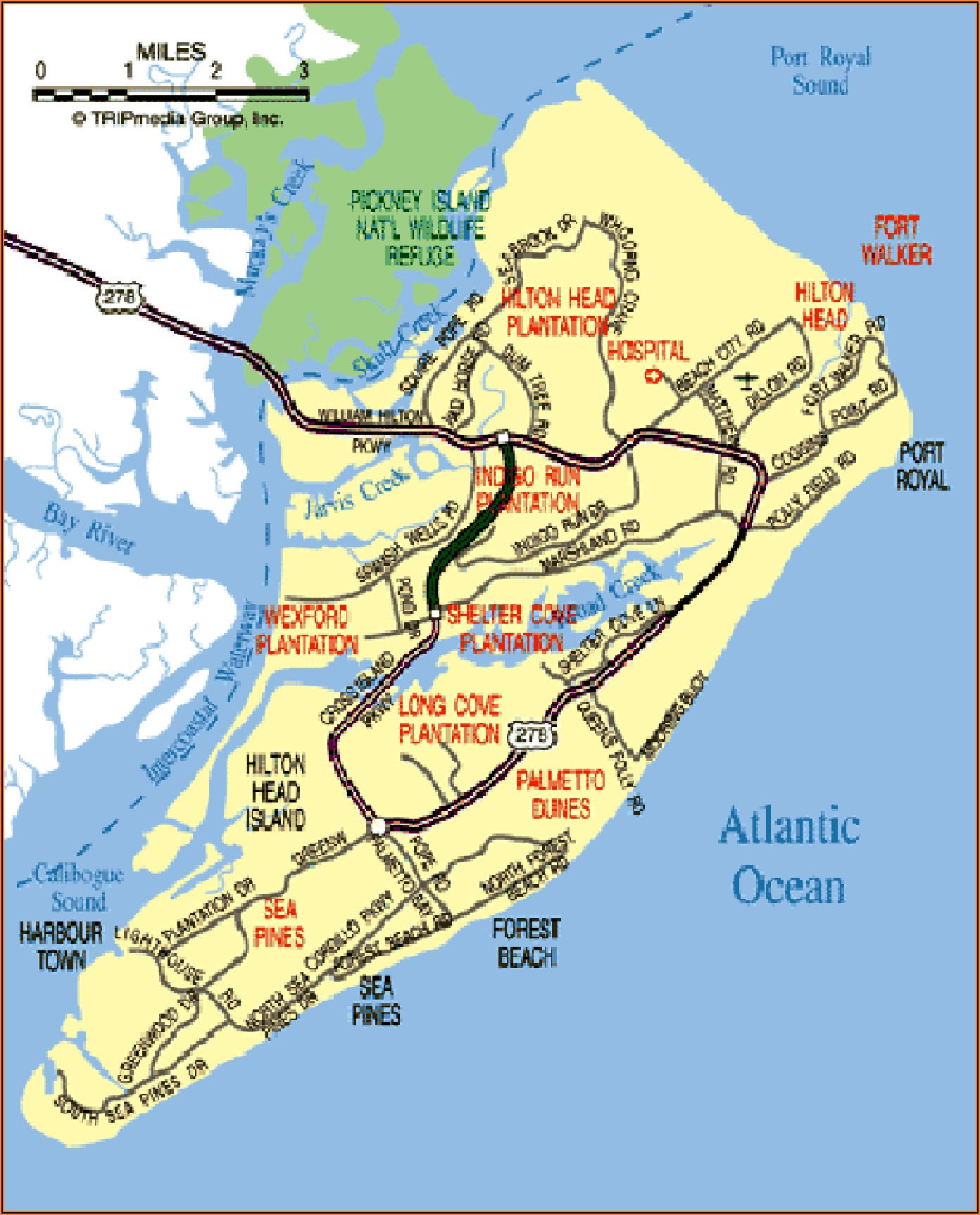 Map Of Hilton Head Island And Surrounding Area
