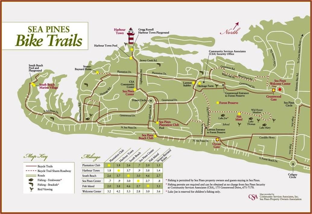 Map Of Hilton Head Island Bike Trails