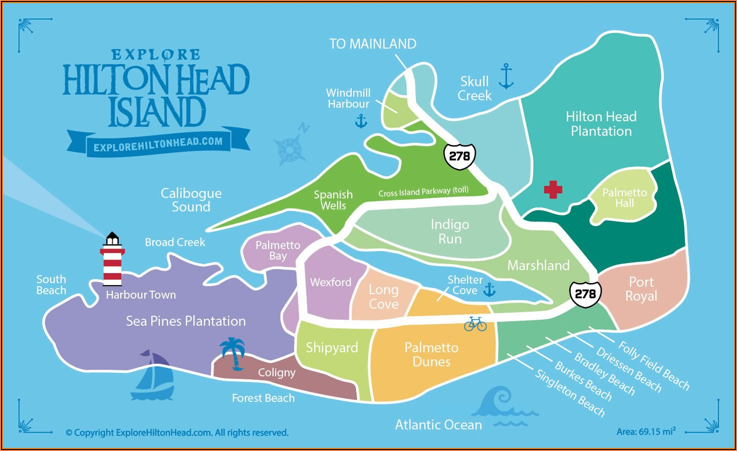 Map Of Hilton Head Island Golf Courses