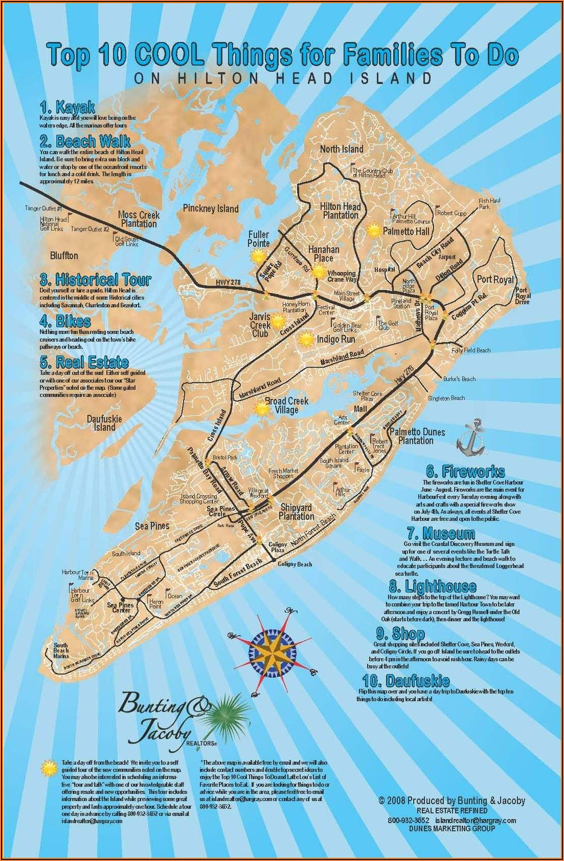 Map Of Hilton Head Island South Carolina