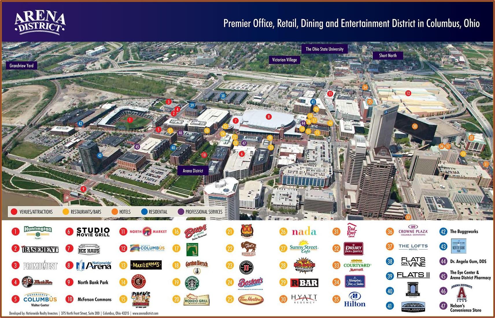 Map Of Hotels In Columbus Ohio