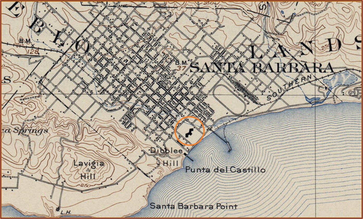 Map Of Hotels In Santa Barbara