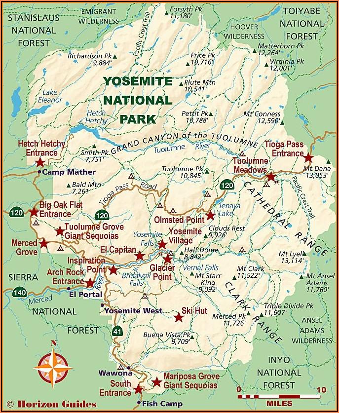 Map Of Hotels Near Yosemite
