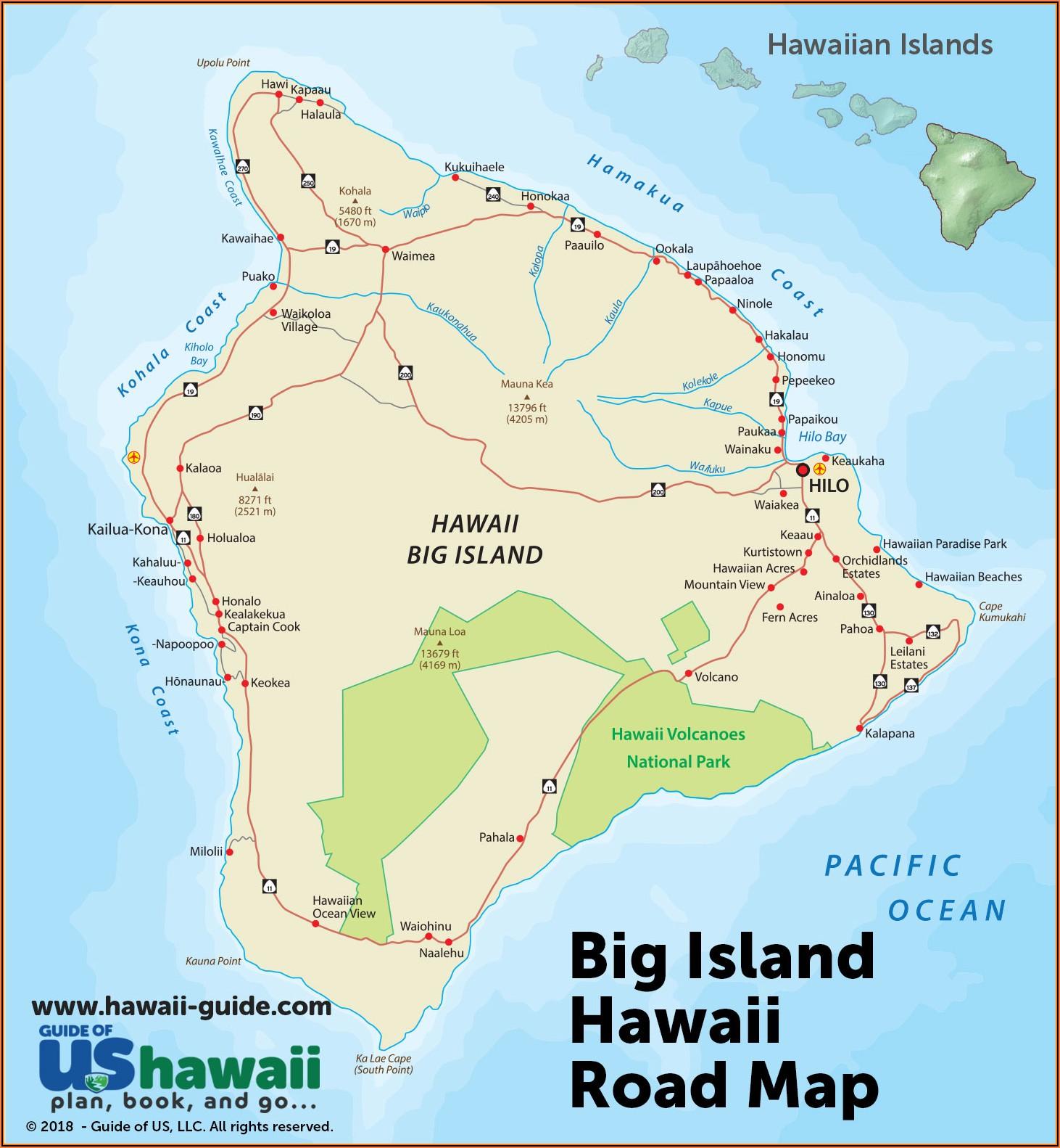 Map Of Kailua Kona Hotels