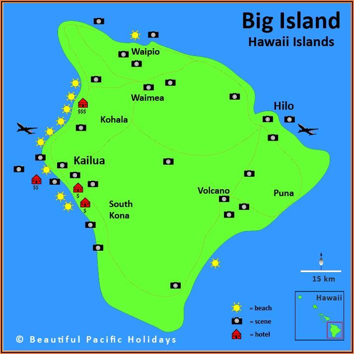 Map Of Kona Hawaii Hotels