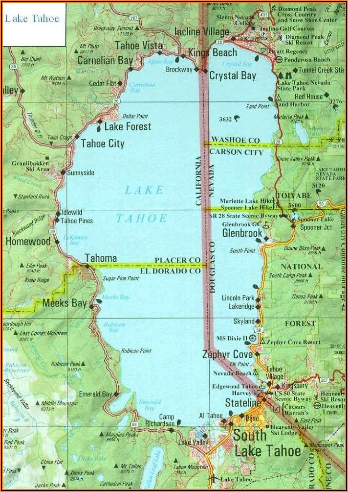 Map Of Lake Tahoe Hotels