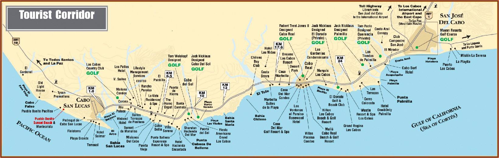 Map Of Los Cabos Hotel Zone