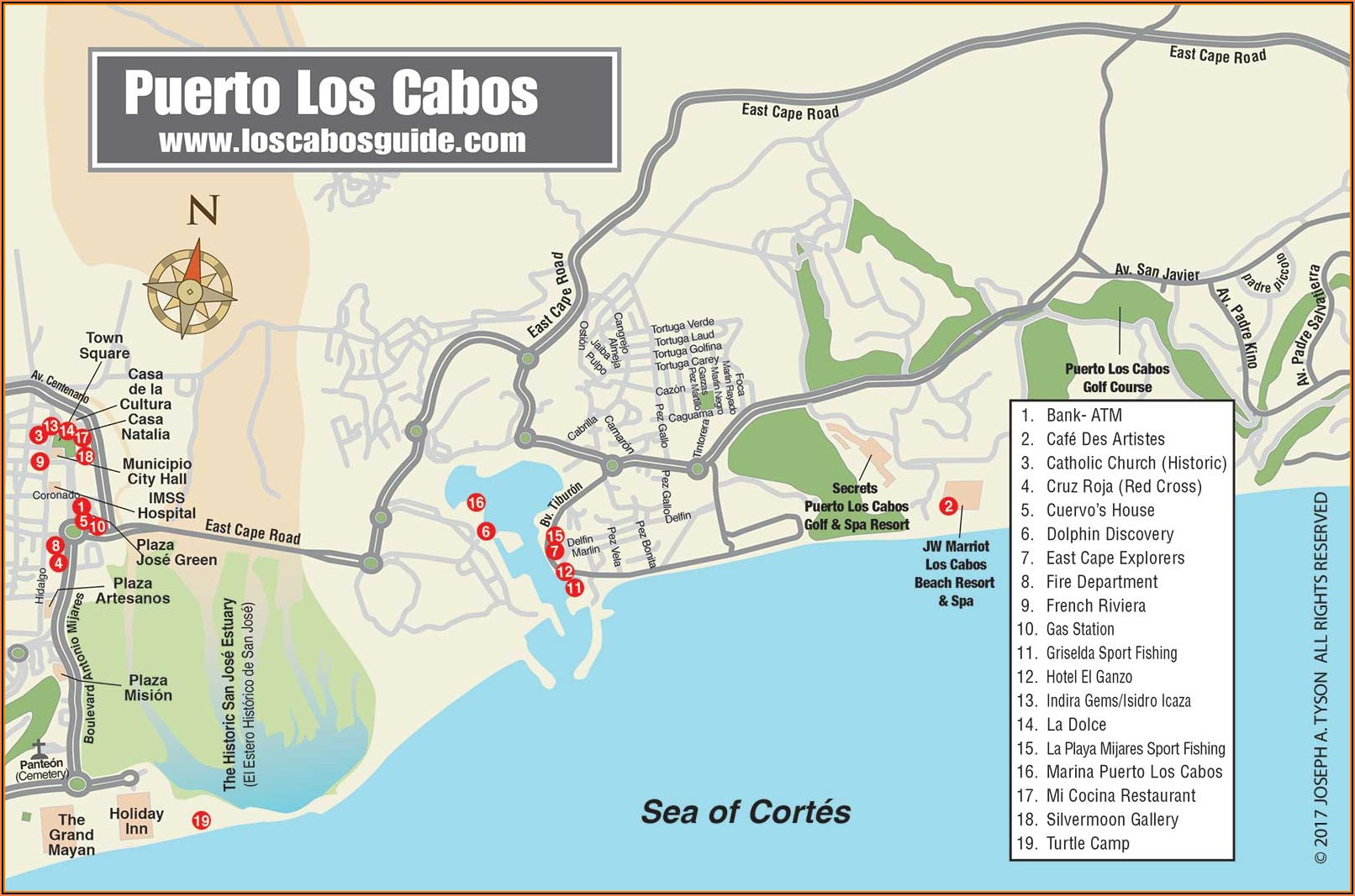 Map Of Los Cabos Hotels