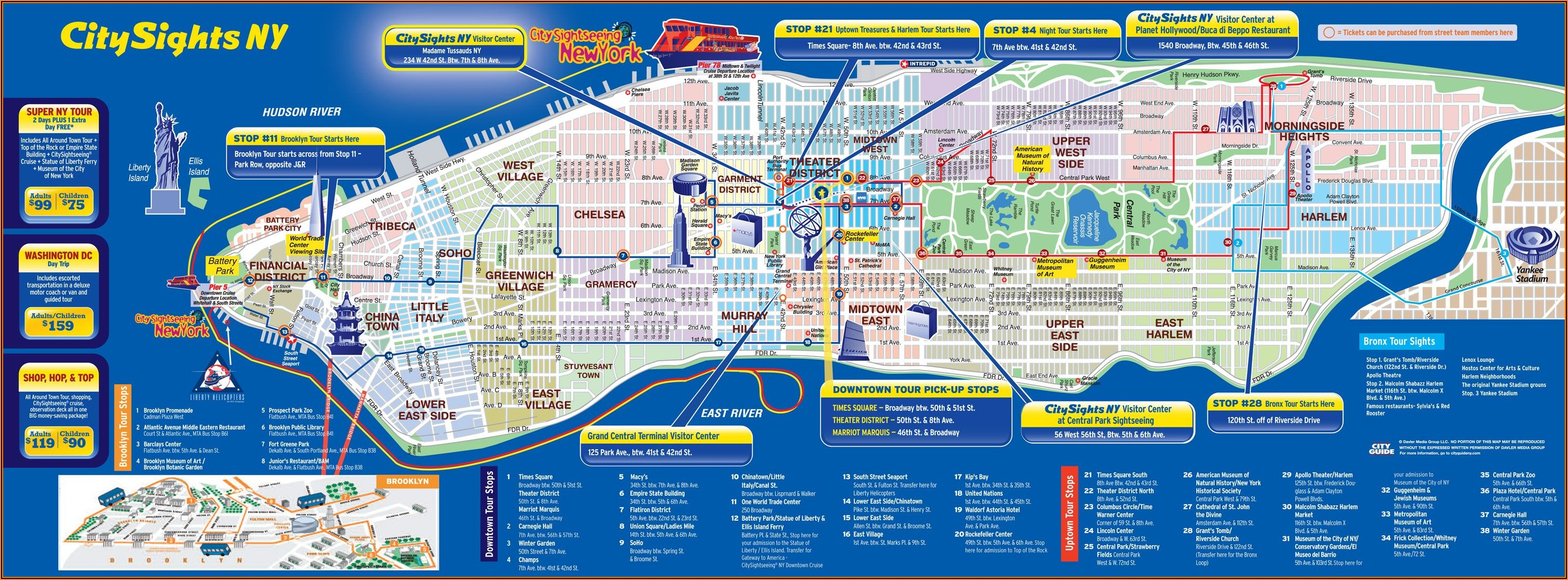 Map Of New York City Attractions
