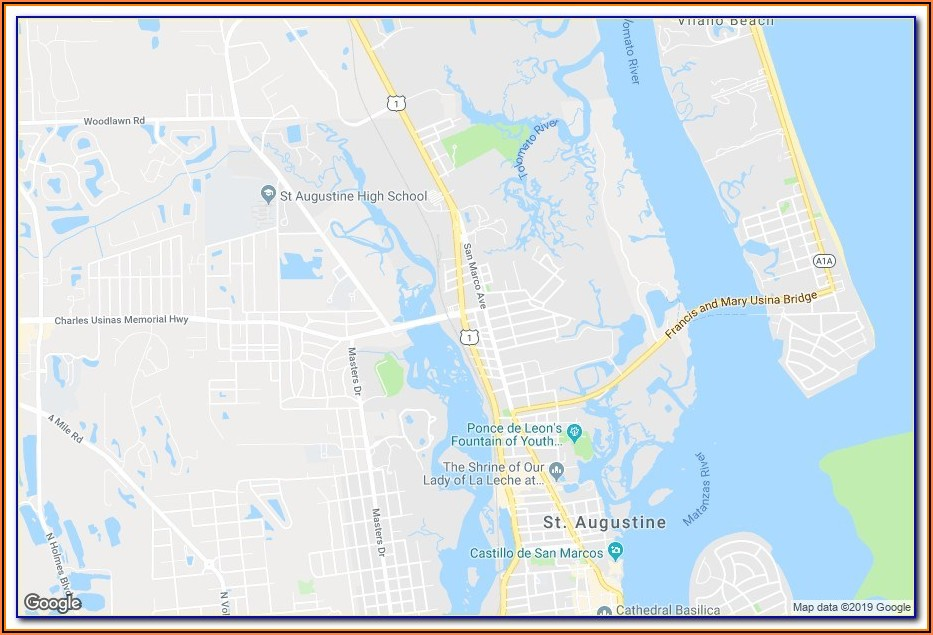Map Of St Augustine Hotels
