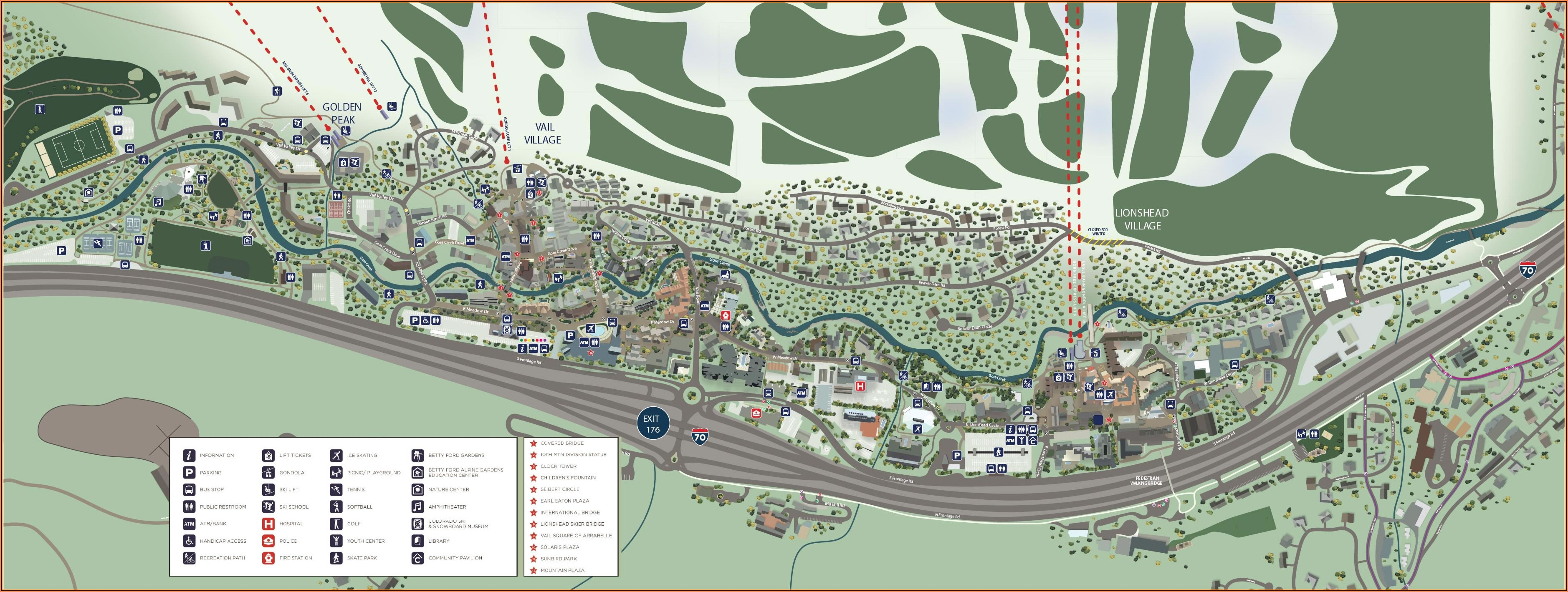 Map Of Vail Co Hotels