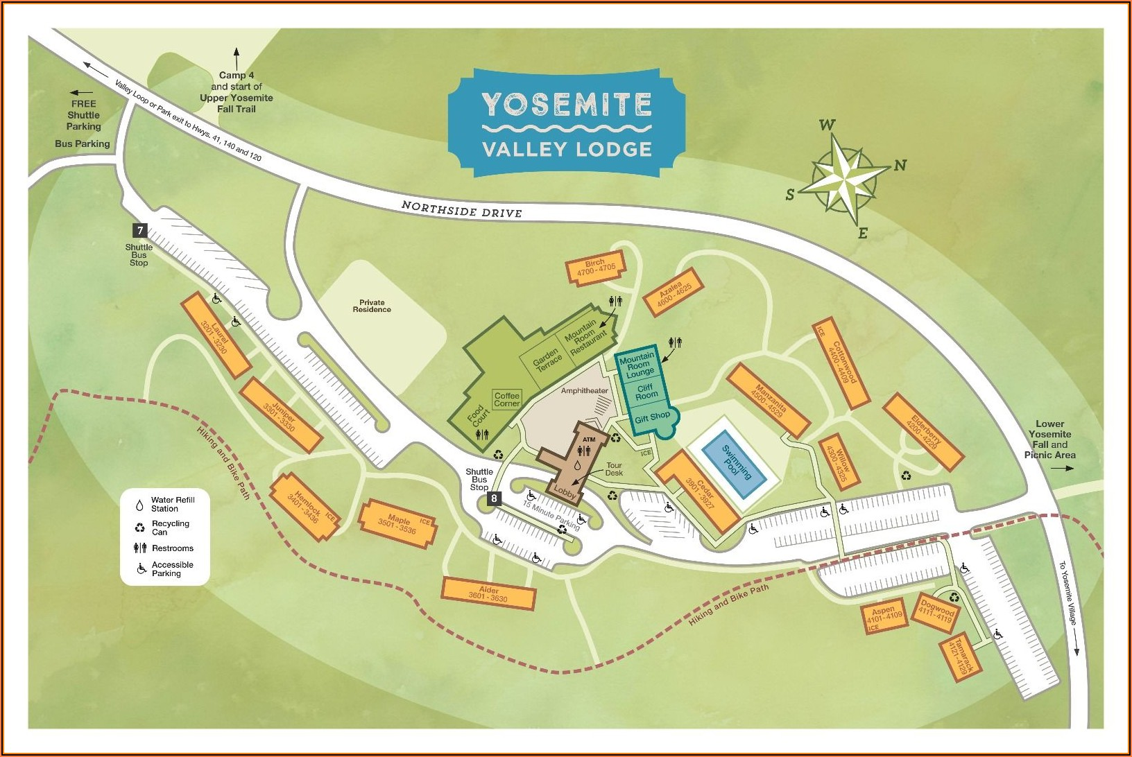 Map Of Yosemite Hotels