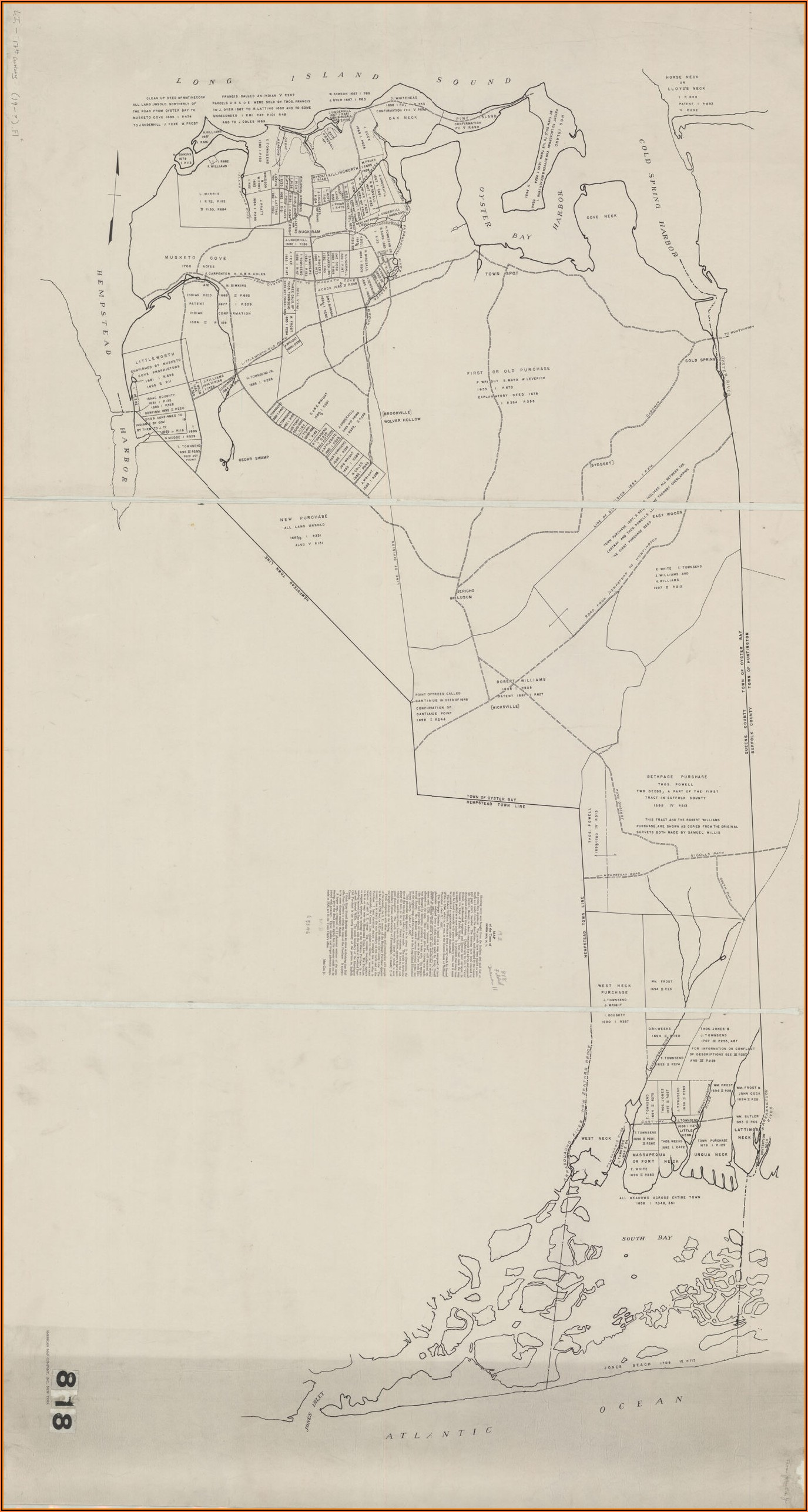 Map Town Of Oyster Bay Ny