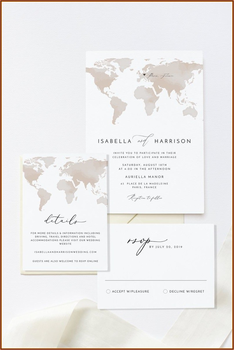 Map Wedding Invitation Template